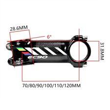 Bicycle stem Riser / rod Stem Carbon Fiber Ultra-light Stem Handle 28.6-31.8MM