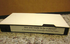 ARE YOU READY TO BE A PARENT teen pregnancy VHS educational Jan Bowers seminar