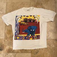 Vintage Elephant Jungle Animal Nature Art T-Shirt Size Large