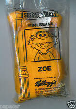 ZOE SESAME STREET Mini Beans KELLOGGs NEW cereal toy figure dog
