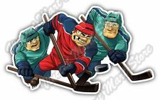"Ice Hockey Player Puck Stick Skates Sport Car Bumper Vinyl Sticker Decal 5""X4"""