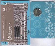 "San Marin 2017 Porte-documents officiel 2 Euros "" Giotto "" N° 17"