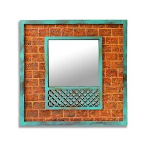 Handcrafted Porch Design Rural India Ethnic Chireband Home Wall Deco Gubi Mirror
