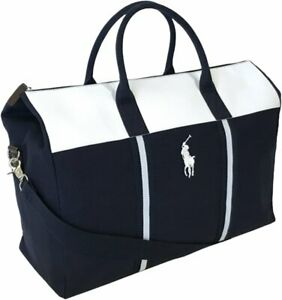 NEW MENS RALPH LAUREN Polo Navy/White Holdall/Travel/Gym/Weekend/Duffle Bag