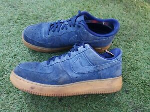 Men's All Navy gum Blue Nike Air Force 1 Trainers Suade Size Uk9