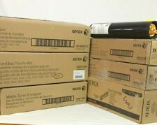 Xerox Lot: Transfer Belt Cleaner/Roll, Drum/Waste Cartridge, new and empty toner