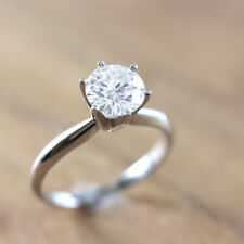 Solitaire Moissanite Engagement Ring On Sale! 1.20ct Round Cut 14k White Gold