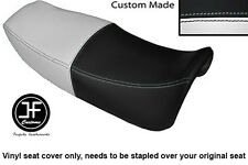 WHITE AND BLACK VINYL CUSTOM FITS HONDA VF 750 F 83-84 DUAL SEAT COVER ONLY
