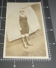 1900s Athletic Woman Workout Clothes Gym Shoes Fashion Exercise Girl Vtg Photo 2