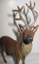 Old 1930s German Lead Reindeer for Christmas Putz Village or Sleigh - Heyde