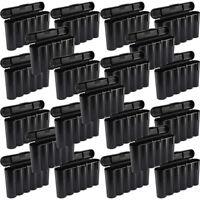 25 Black 18650 & CR123A 6 Battery Holder Storage Case for 18650 Batteries