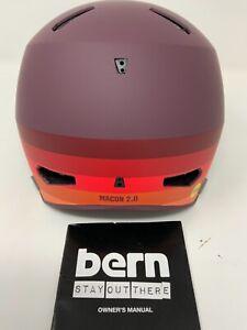 Bern Macon 2.0 Cycling Hemet Unisex MIPS Size  Medium Matte Retro Maroon Color