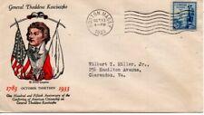 US FDC #734 Kosciuszko, Linprint (9133)