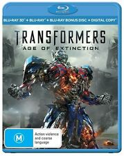 Transformers 3D M Rated DVDs & Blu-ray Discs