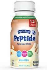 PediaSure Peptide 1.0 Vanilla: 24 x 8oz Bottles New Sealed Case July 2021