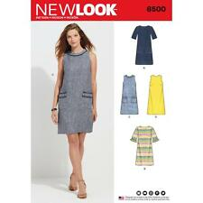NEW LOOK SEWING PATTERN MISSES DRESS Neckline Sleeve Pocket Variation 10-22 6500