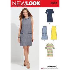 NEW Look Sewing Pattern MISSES Abito scollo tasca sulla manica variazione 10-22 6500