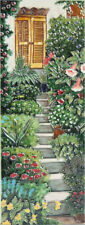 Garden Steps Design 1 Ceramic Wall Art 15x40cm Plaque Tile Picture YH Arts Gift