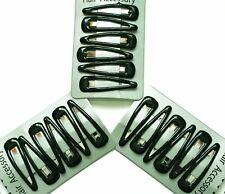 Bottle green hair clips. Set of 18 slides, snaps, sleepies bendies.