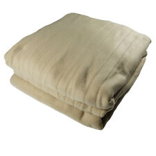 LivingQuarters King Size Cold Weather Automatic Heated Blanket. Dual Cont. Wrnty
