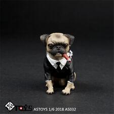 ASTOYS 1/6 2018 AS032 pug Wear a suit Cigar dog Scene props men in black