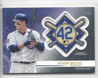 2018 Topps Update Jackie Robinson Commemorative Patch #JRP-AR Anthony Rizzo