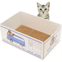 Cat Scratching Post Board Fashion Corrugated Dog Bed Box Claw Care Sleeping Mat