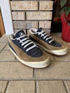 Airwalk Vintage GTO Mens 9.5 Skateboard Casual Shoes Suede Brown Navy