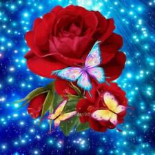 5D DIY Red Rose Diamond Painting Embroidery Craft Cross Stitch Home Decor Art