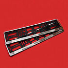 2x CHROME MERCEDES-BENZ NUMBER PLATE SURROUNDS HOLDER FRAME FOR AMG CARS
