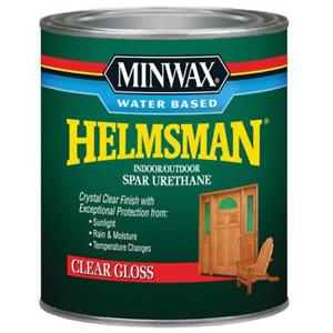 Minwax 630500444 Water Based Helmsman 275 VOC Spar Urethane, Clear Gloss, 1