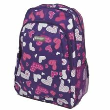 Jeep Mens Womens Purple Hearts Backpack School College Travel Rucksack Bag