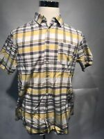 MOSSIMO SUPPLY CO Men's Button Up Shirt Plaid Short Sleeve Size L