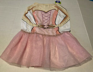 NWT Top Paw Ballerina dog dress Glitter Pink Skirt XL X-Large