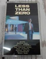 Vintage Cassette Tape LESS THAN ZERO Movie Soundtrack 1987 Aerosmith Poison