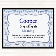 Cooper nom signifiant Tapis de Souris Pad nautique