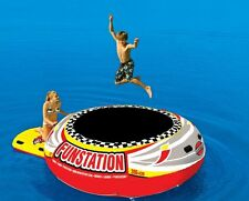 Inflatable Water Trampoline 10 Ft Floating Island Lake Raft Bouncer Anchor Kids