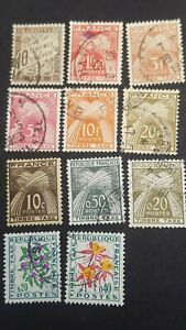 france stamp. Small selection of  Postage due. Used