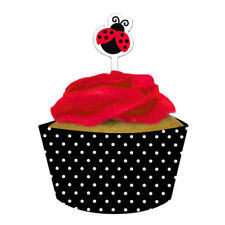 Ladybug Cupcake Wrappers and Toppers x 12