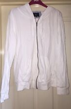 Next White Hooded Zip Up Jacket, Size 10 - Fab!