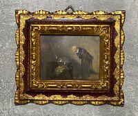"""Carl Spitzweg Gemälde """"der Alchimist"""" Kunst Reproduktion im Bilderrahmen (1860)"""