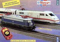 Roco Modelleisenbahnen Prospekt 1996 1997 Modellbahn brochure model railway Bahn