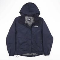 Vintage THE NORTH FACE Black Mesh Lined Hooded Zip Up Jacket Womens Size Medium