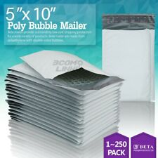00 5x10 5x9 Poly Bubble Mailer Padded Envelope Shipping Bag 2550100 Pcs