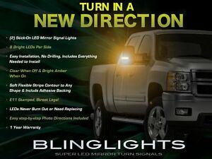 Add-On LED Side View Mirror Turnsignal Lights for Chevrolet Silverado