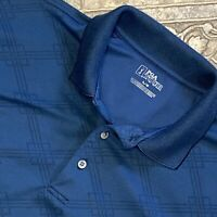 PGA Tour Adult Large Navy Blue Short Sleeve Casual Polo Golf Shirt Men's