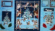 'WOODLAND WINTER' CHRISTMAS STOCKING QUILT FABRIC