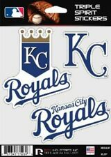 Kansas City Royals Die Cut Decals 3 Pack Car Window, Laptop, Tumbler MLB Rico