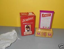 "2006 Hasbro Scrabble Spellout MOM Acrylic Photo Frame w/ Glass 3.5"" x 5"""