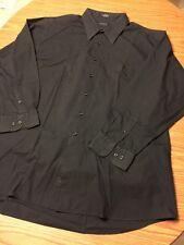Covington Black L/S Button Up Shirt Size 18-18 1/2 34/35